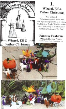 Whimsical Sewing Projects - Wizard, Elf and Father Christmas Pattern