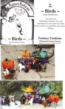Whimsical Sewing Projects -  Birds (Forest Friends Series) Pattern