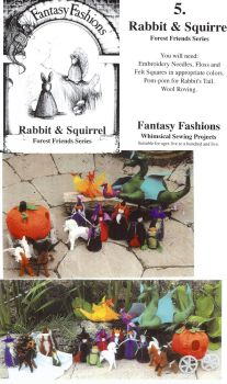 Whimsical Sewing Projects -  Rabbit and Squirrel (Forest Friends Series) Pattern