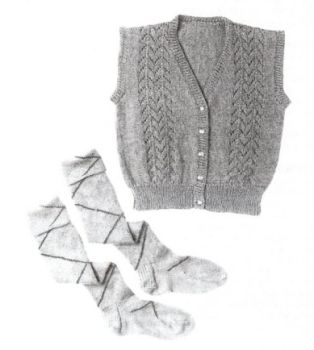 Men's or Women's Argyle Socks and Women's Scottish Vest Knitting Instructions