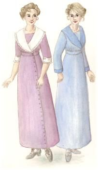1910's Shawl Collar Dress Pattern