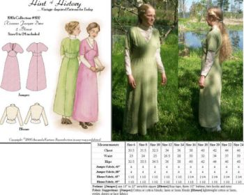 fa2debfd7873 Patterns of Time 1910 s Kimono Sleeve Jumper Dress and Blouse ...