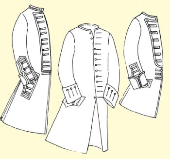 1750's Coat with Military Variations for the Officer or Enlisted Man