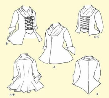 1750's - 1780's Ladies' Jackets Pattern