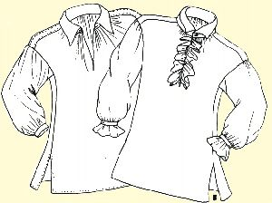 1700's Colonial Shirt Pattern