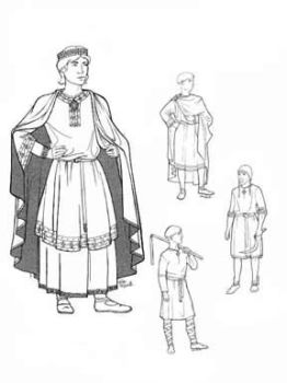 1060-1150 Men of Medieval Romanesque Period Pattern