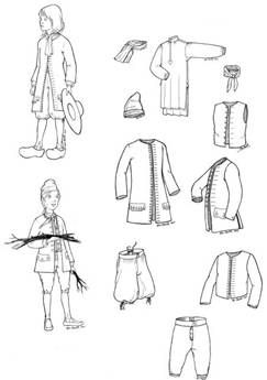 1675 - 1760 New France Boys Pattern