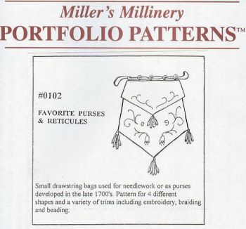 1790 to 1800 Favorite Purses and Reticules Pattern by Miller's Millinery