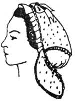1850s to 1860s Day or Evening Cap Pattern