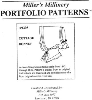 1842-1849 Cottage Bonnet Pattern
