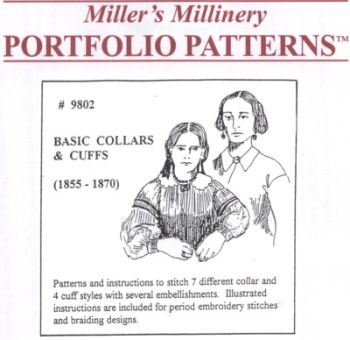 1800s Basic Collars and Cuffs Pattern by Miller's Millinery