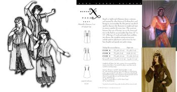 Adjustable Ghawazee Coat and Turkish Vest Pattern