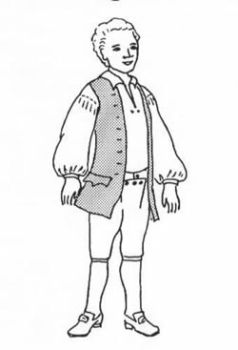 1770's Waistcoat and Shirt Pattern