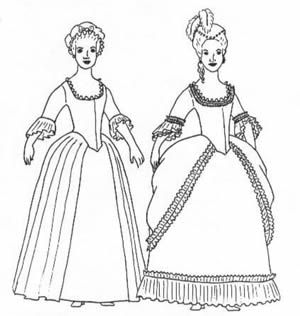 Woman's gown- A Robe Polonaise