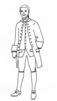 1770-85 Man's Frock Coat Pattern