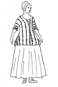 European Bedgown with directions for petticoat.