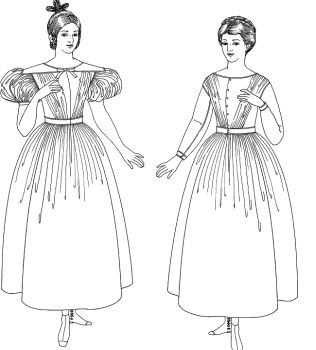 1836-1855 Workdress Pattern
