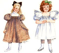 1898 Girl's Dress Pattern