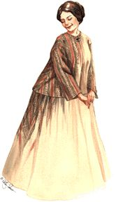 1850's - 1870's Sacque and Petticoat Pattern by Past Patterns