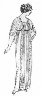 1911-14 Tea Gown with Two-Piece Skirt Pattern