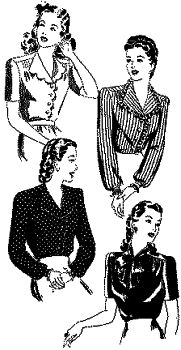 1948 Button-Front Blouse in 4 Styles