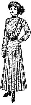 1911-12 Misses' Shirt-Waist Dress with Skirt Yoke Pattern