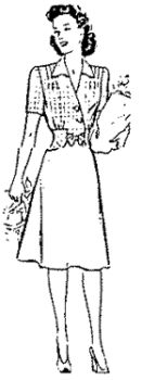 1943 Misses' and Women's Day Dress