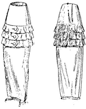 1913 Two Piece Skirt Pattern