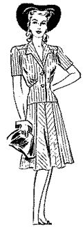 1943 Misses' Two-Piece Dress