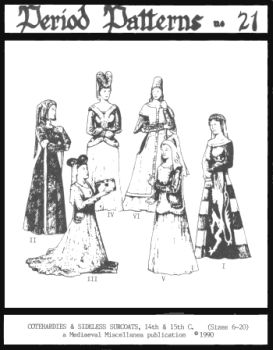 14th and 15th Centuries Cotehardies and Sideless Surcoats Pattern