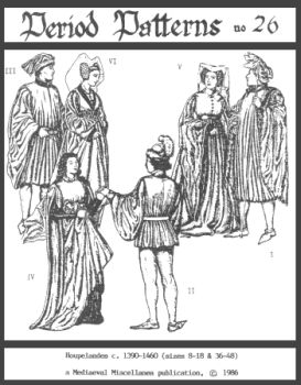 1390-1460 High Medieval Houpelandes for Men and Women Pattern