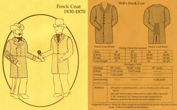 1830-1870 Men's Frock Coat Pattern