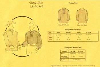 1830-1860 Men's Trade Shirt Pattern