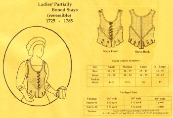 18th Century Ladies� Partial Boned Stays Pattern