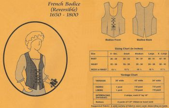 1650 – 1800 French Bodice Pattern