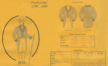 1790-1820 Men's Early Frock Coat Pattern