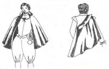14th-20th C. Men's short cape Pattern