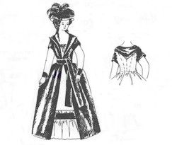1785 - 1795 Levite (Over Gown) Pattern