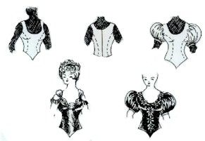 1870's - 1890's Ball Gown Bodice Pattern