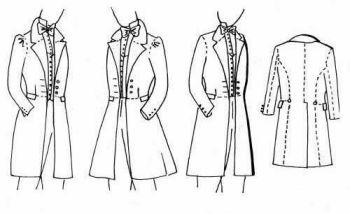 1830's, 1840's & 1850's Frock Coat Pattern