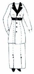 1910 - 1915 Double Breasted Jacket Pattern