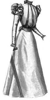 1897 Young Lady's Cashmere Gown Pattern