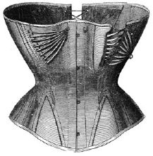 1869 Long Corset with Shirr Pattern