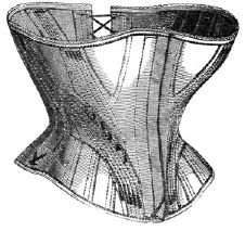 1869 Short English Leather Corset Pattern