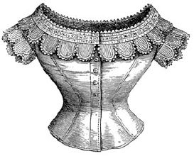 1869 Underwaist Trimmed with Lappets Pattern