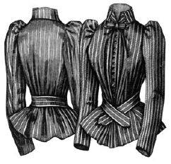 1891 Silk Shirt Waist Pattern