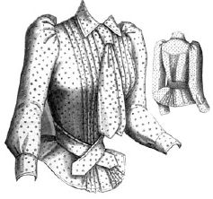 1891 Percale Shirt Waist Pattern