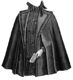 1895 Spring Cape for Elderly Lady Pattern
