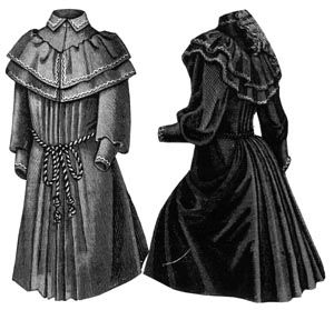 1891 Coat for Girl 9-11 Years Pattern