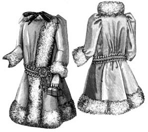 1891 Coat for Girl 4-6 Years Pattern